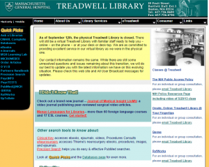 Treadwell Library Home Page